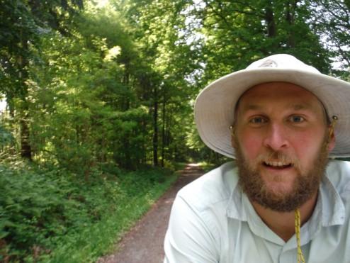 Bill Oddie tracking down some singletrack