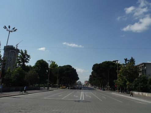 The main road into Tirana