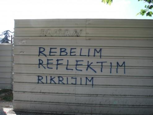 Rebellion Reflection Recreation; Political street art