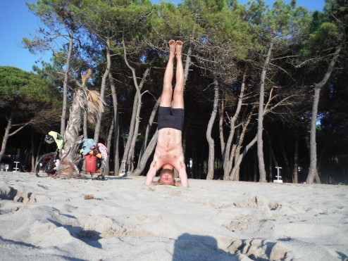 International Yoga Day at the beach 32km from Durres
