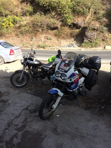 Africa Twin with the Thunderbird One