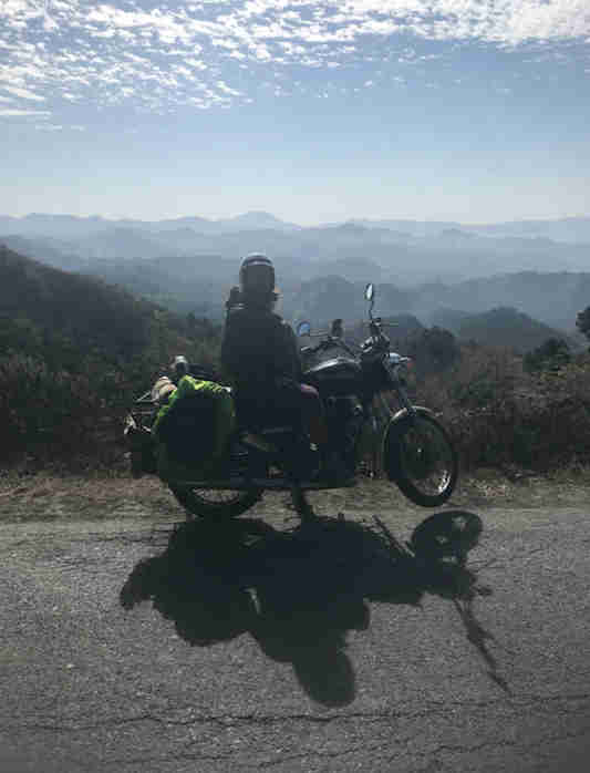 Fully loaded Royal Enfield with all the essential kit for motorcycling India
