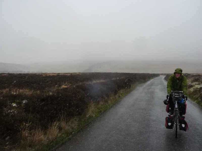 Bleak weather cycling Dartmoor
