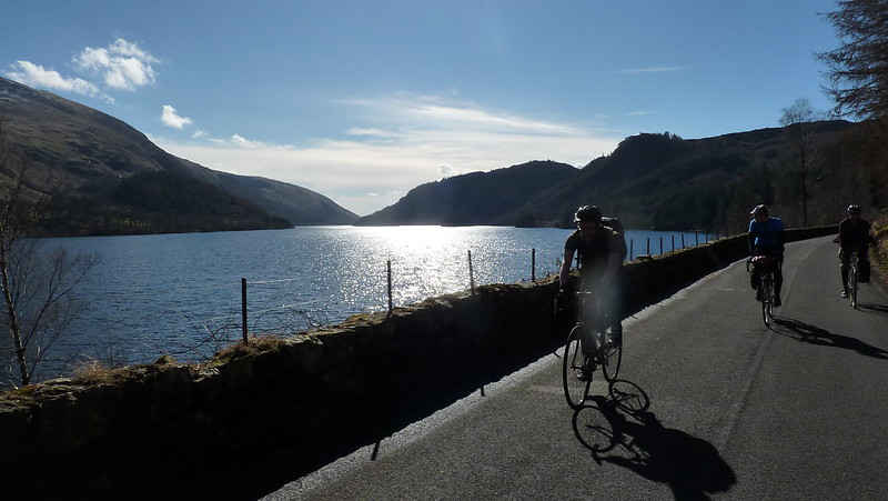 Classic road cycling route in the Lake District