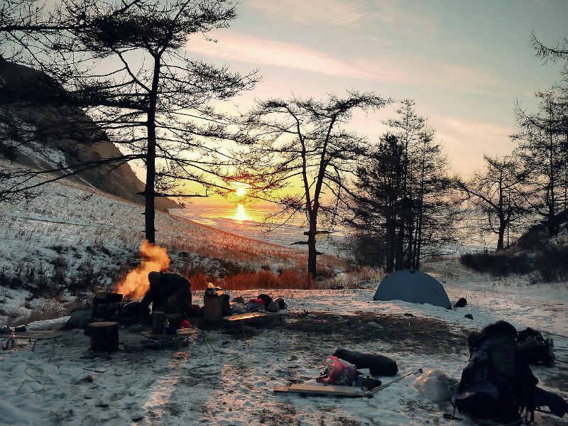 bushcraft course winter survival skills
