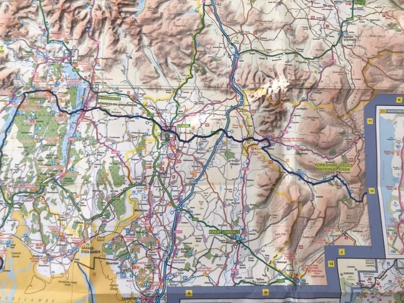 lake district national park coast to coast cycle route map