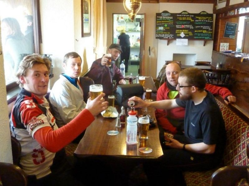 mash up and district cycling club on the coast to coast cycle