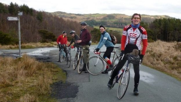 mash up and district cycling club on the coast to coast cycle to whitby