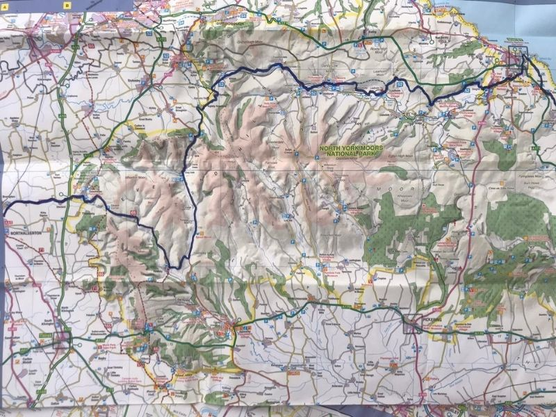 north york moors coast to coast cycle route map