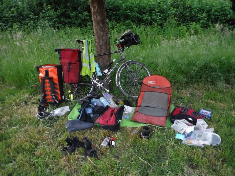 what is the right amount of cycle touring kit