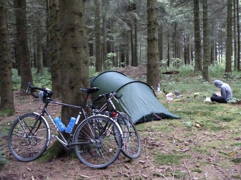 wild camping in the black forest