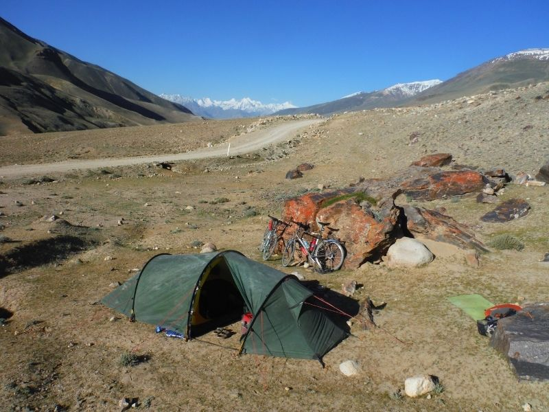 High altitude wild camping with Hilleberg Nallo 2 GT in Central Asia