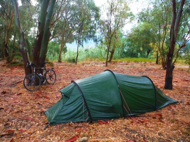 wild camping in the Nallo 2 GT in Greece