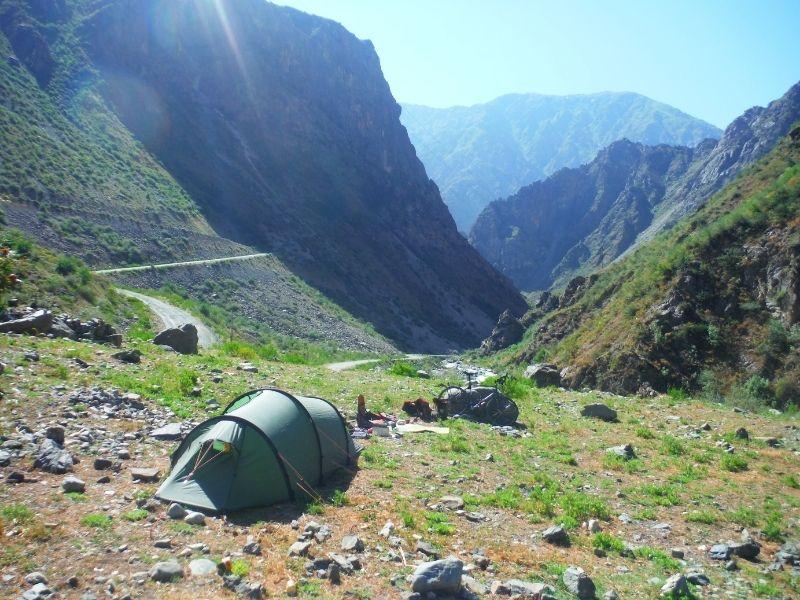 wild camping in the Nallo 2 GT in Tajikistan